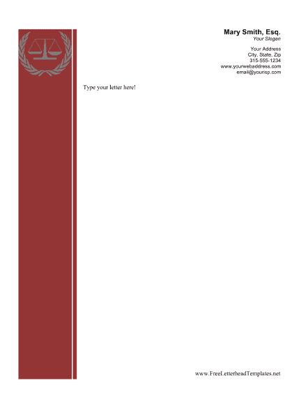 Letterhead Format In Word 1946