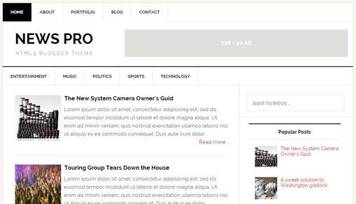 SEO Blogger Templates 3461