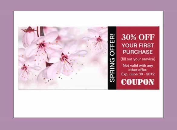 coupon template 794
