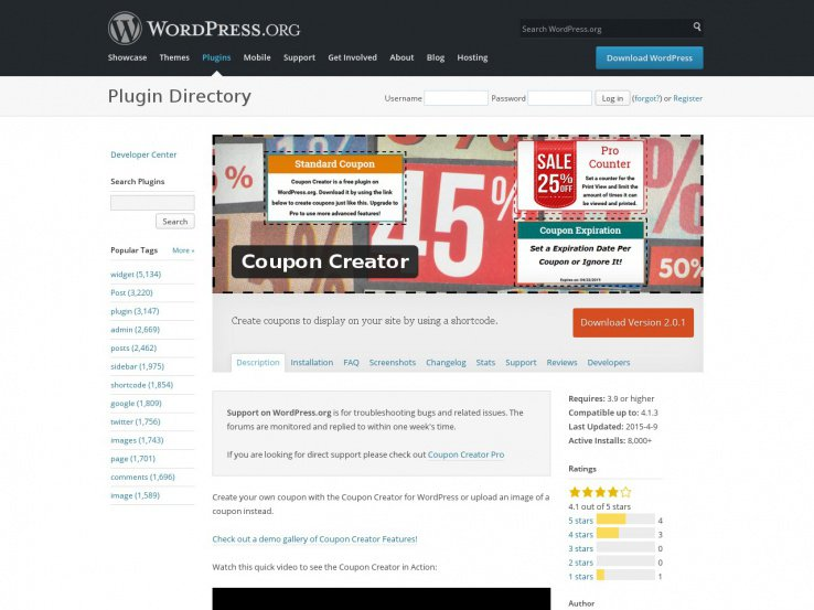 coupon website template 61