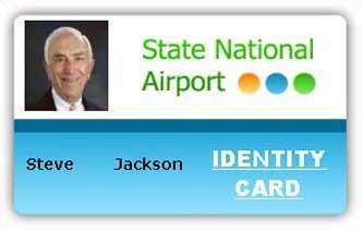 employee id card template 364