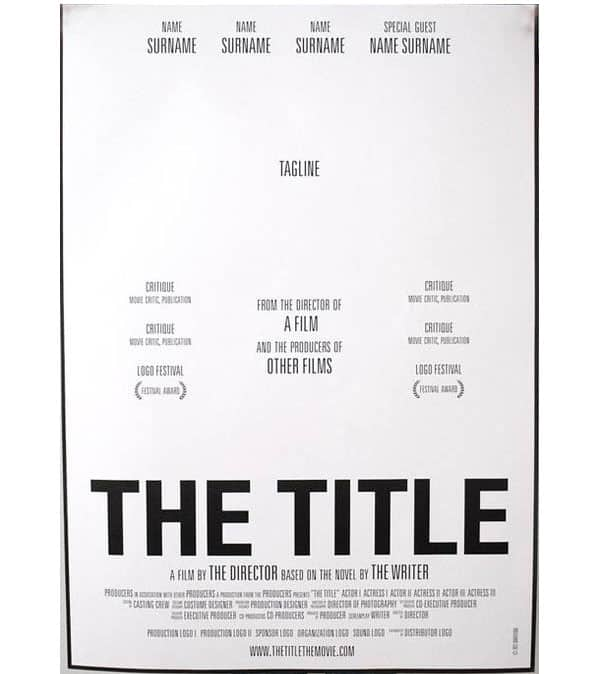 11 Movie Poster Psd Templates