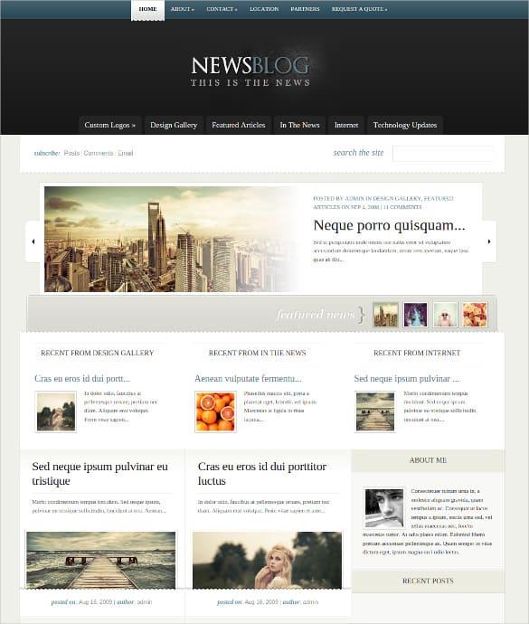 news blogger theme 941