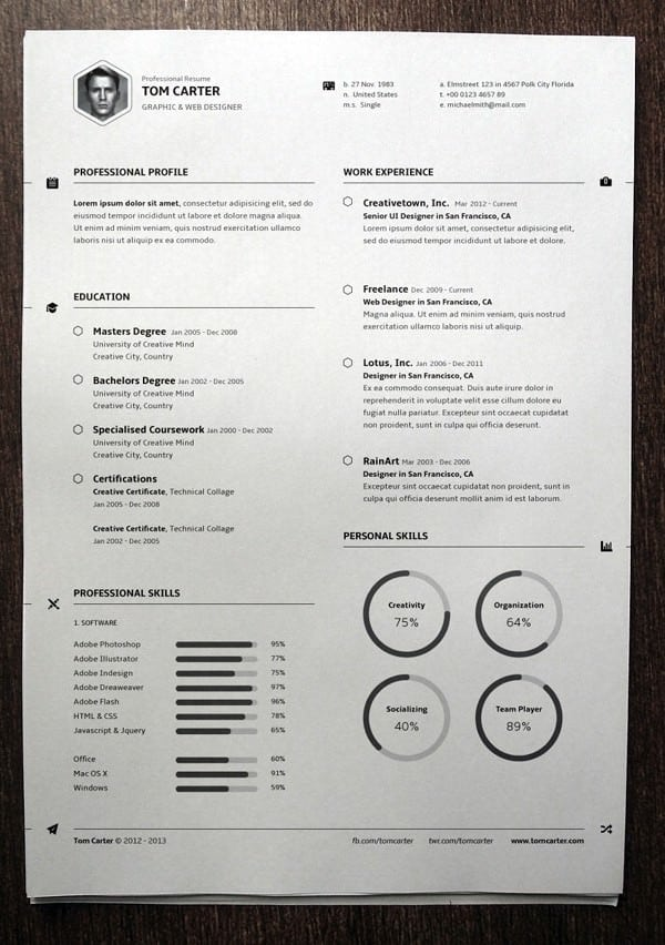 resume templates for mac 641