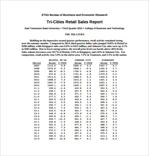 sales report 261
