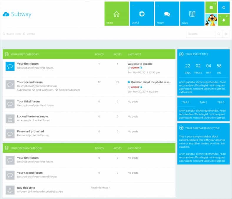 bootstrap forum template 564