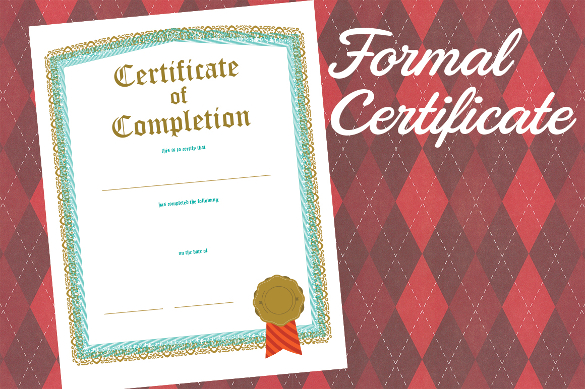 certificaet of completion 145