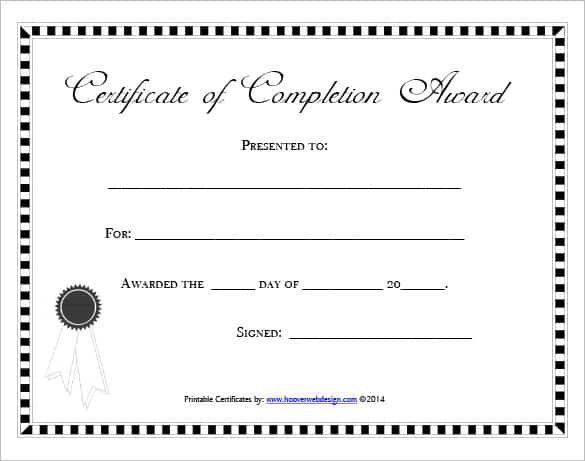 certificaet of completion 5641