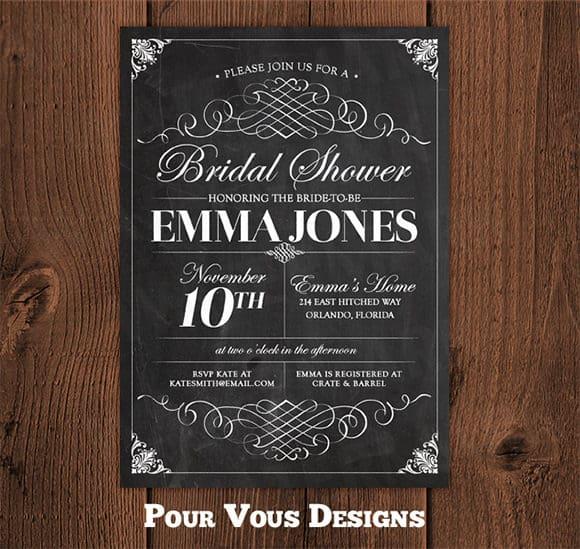 chalkboard invitation templates