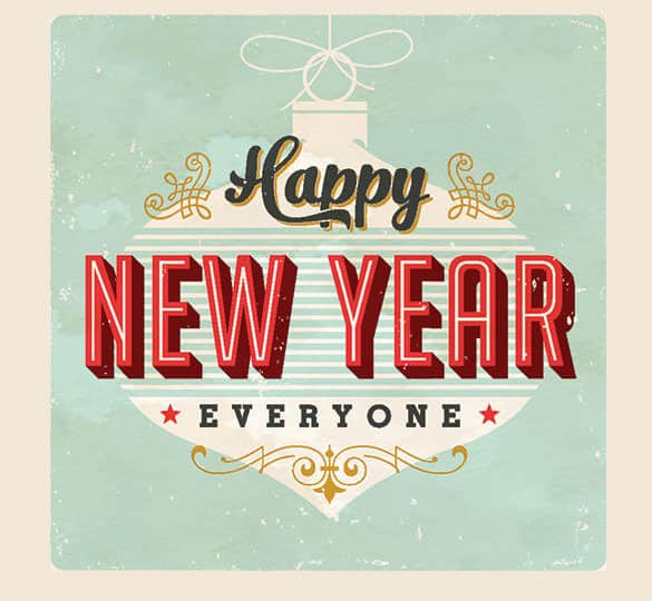Happy New Year Email Templates - Word Excel PDF Formats