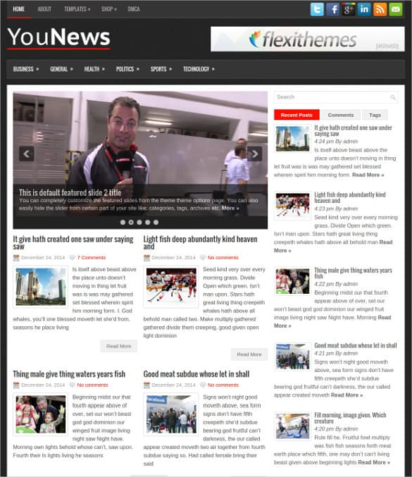 news templates for blogger 264