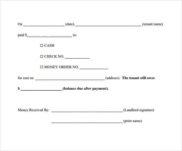 payment receipt format 220