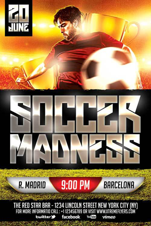 soccer flyer template 220