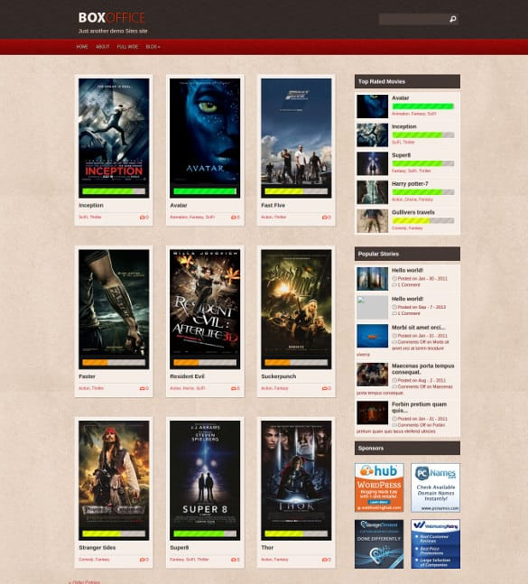 Cinema WordPress Themes 22