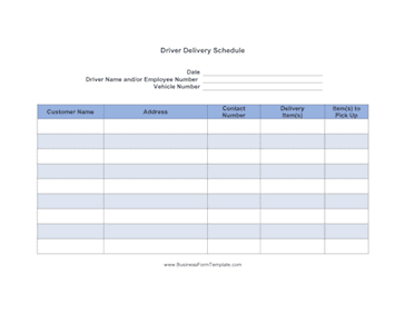Delivery Schedule 52