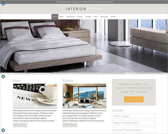 Interior Design WordPress Themes 62