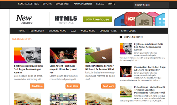 News Mag Blogger Templates 22