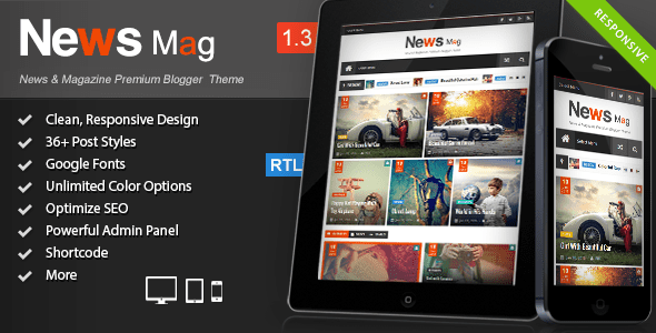 News Mag Blogger Templates 52
