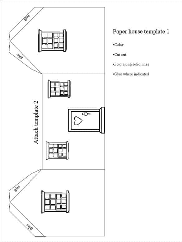 Paper House Template 12