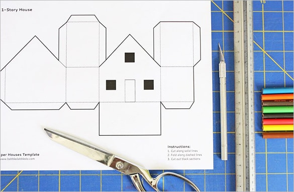 Paper House Template 82