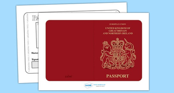 image about Printable Passport Templates identify Pport Templates - Term Excel PDF Formats