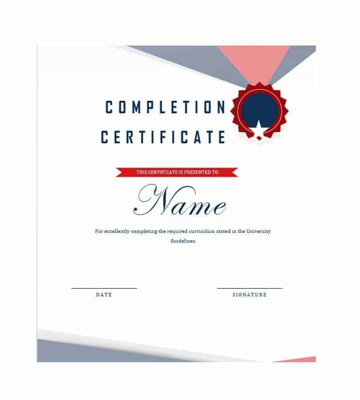 6+ Work Completion Certificate Formats In Word
