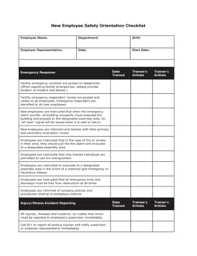 Employee Checklist Template Excel from www.templatesfront.com